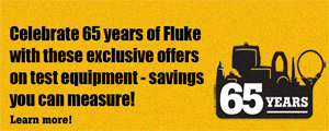 Come celebrate Fluke 65th anniversary with us and get a free gift with purchase!