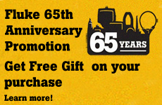 Fluke 65th Anniversary Promtion: Free Gift on Purchase